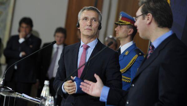 Jens Stoltenberg i Aleksandar Vučić - Sputnik Srbija