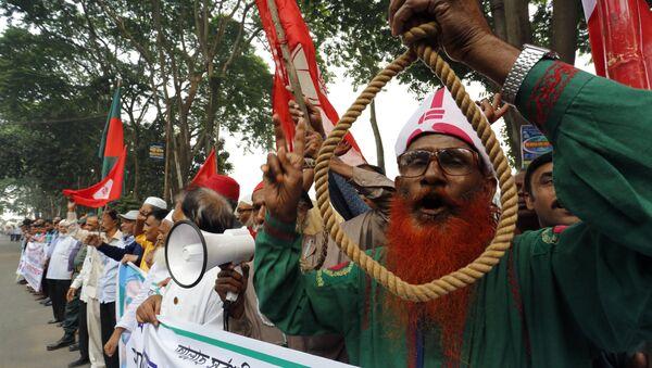 Protest protiv vešanja opozicionara u Bangladešu - Sputnik Srbija