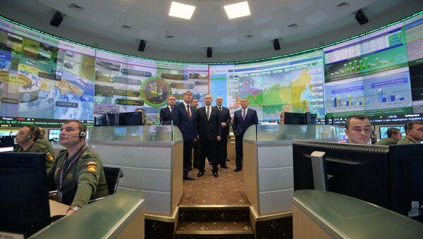 Putin posetio komandni centar Ministarstva odbrane Rusije - Sputnik Srbija