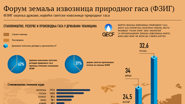 Форум земаља извозница природног гаса - Sputnik Србија