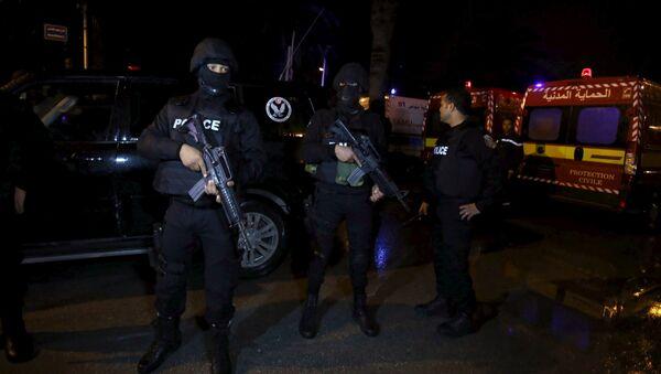 Tuniska policija posle eksplozije u autobusu - Sputnik Srbija