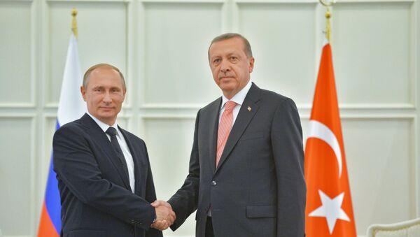 Председник Турске Реџеп Тајип Ердоган и председник Русије Владимир Путин - Sputnik Србија