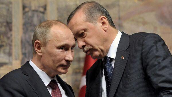 Владимир Путин и Реџеп Тајип Ердоган - Sputnik Србија
