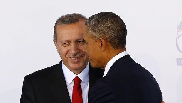 Председник Турске Реџеп Тајип Ердоган и председник Барак Обама - Sputnik Србија
