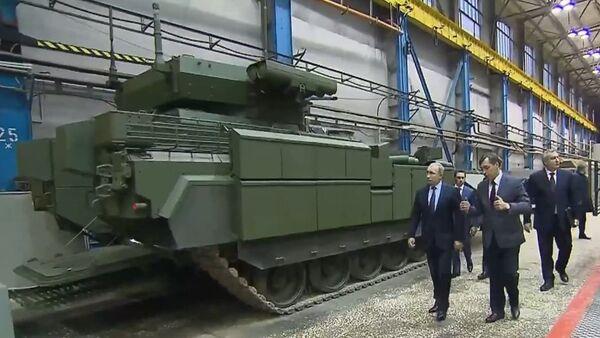 Russia: Putin inspects new IFV based on T-14 Armata platform - Sputnik Srbija
