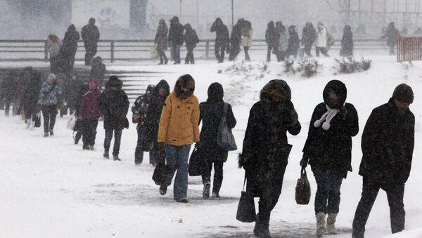 Sneg i vetar u Vladivostoku - Sputnik Srbija