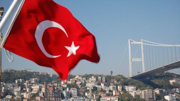 Most na Bosforu i turska zastava - Sputnik Srbija