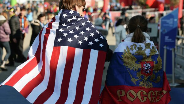 Навијачи Русије и Америке - Sputnik Србија