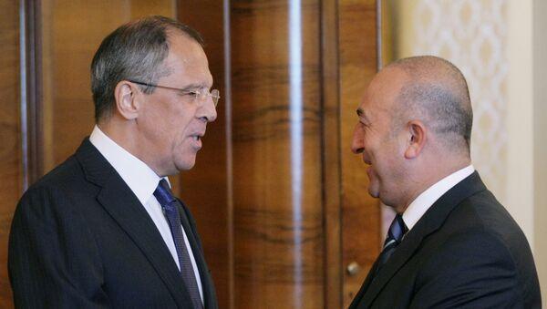 Ministri inostranih poslova Rusije i Turske, Sergej Lavrov i Mevlut Čavušoglu - Sputnik Srbija