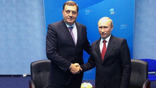 Председник РС Милорад Додик и предесдник Русије Владимир Путин - Sputnik Србија