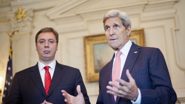 Državni sekretar SAD Džon Keri i premijer Srbije Aleksandar Vučić - Sputnik Srbija