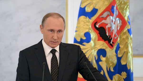 Обраћање председника Владимира Путина на годишњем обраћању Руске Федерације  Савезној скупштини - Sputnik Србија