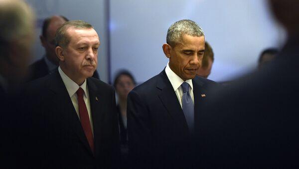 Predsednik SAD Barak Obama i predsednik Turske Redžep Tajip Erdogan - Sputnik Srbija