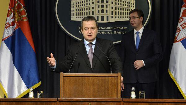 Predsednik vlade Republike Srbije Aleksandar Vučić i ministar spoljnih poslova Srbije Ivica Dačić - Sputnik Srbija