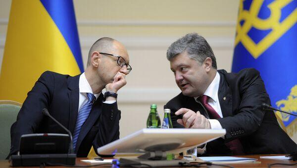 Arsenij Jacenjuk i Petro Porošenko - Sputnik Srbija