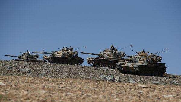 Turski tenkovi na granici sa Sirijom - Sputnik Srbija