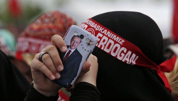 Pristalice turskog predsednika Redžepa Erdogana - Sputnik Srbija