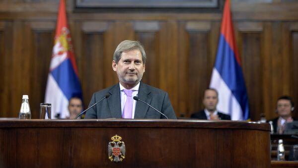 Комесар ЕУ за проширење и политику суседства Јоханес Хан - Sputnik Србија
