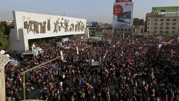 Велики протести у Багдаду против уласка турских трупа у Ирак. - Sputnik Србија