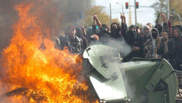 Протести неонациста у Лајпцигу - Sputnik Србија