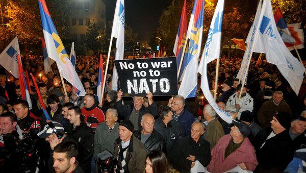Protest protiv NATO u Podgorici - Sputnik Srbija