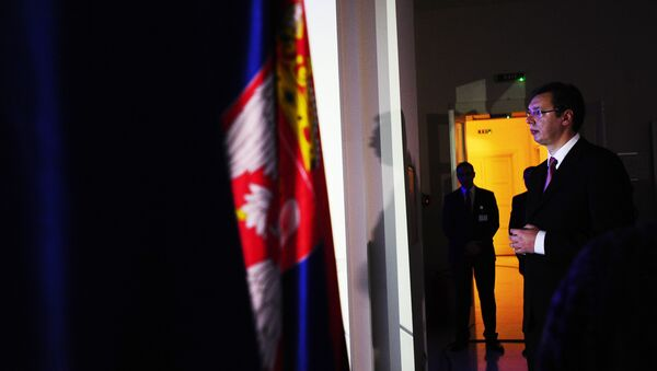 Aleksandra Vučić na prijemu povodom otvaranja pregovaračkih poglavlja sa EU. - Sputnik Srbija
