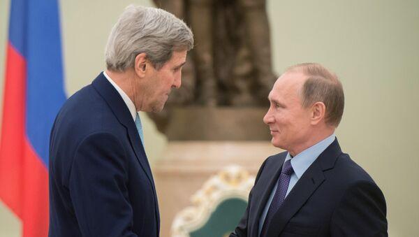 Сусрет председника Русије Владимира Путина и државног секретара САД Џона Керија - Sputnik Србија