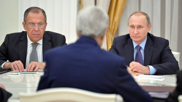 Састанак Путина и Керија у Кремљу - Sputnik Србија