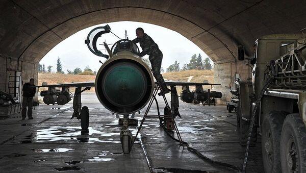 МИГ-21 који користи сиријска војска у борби против терориста - Sputnik Србија
