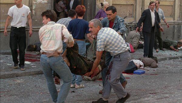 Žrtve bombardovanja pijace Markale u Sarajevu, 28. avgusta 1995. - Sputnik Srbija