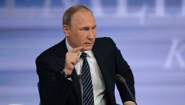 Годишња конференција председника Русије Владимира Путина - Sputnik Србија