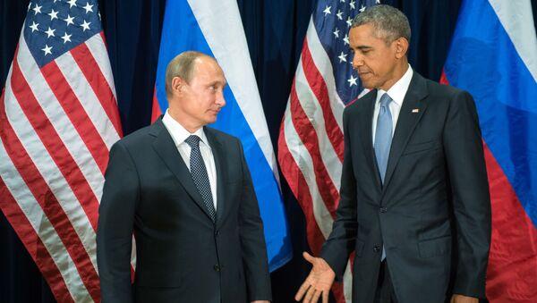 Предеседник Русије Владимир Путин и амерички председник Барак Обама - Sputnik Србија
