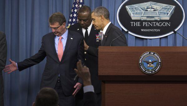 Barak Obama i Ešton Karter - Sputnik Srbija