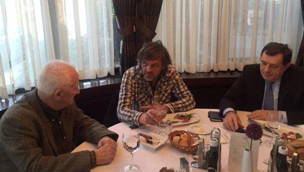 Milorad Dodik, Emir Kusturica, Matija Bećković - Sputnik Srbija