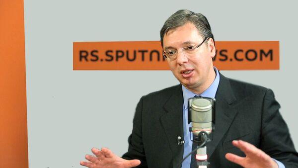 Premijer Srbije Aleksandar Vučić-intervju za Sputnjik - Sputnik Srbija