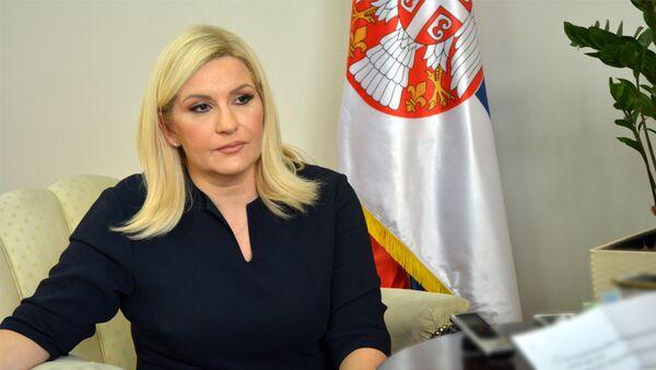 Zamenik premijera i ministar građevinarstva, prometa i infrastrukture Zorana Mihajlović - Sputnik Srbija