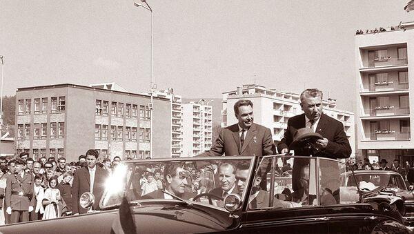 Леонид Брежњев и Александар Ранковић у Велењу 1962. - Sputnik Србија