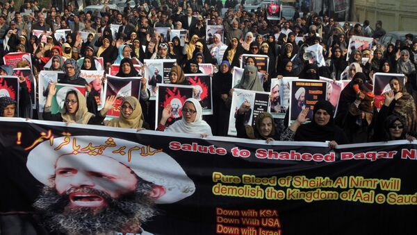 Protesti protiv pogubljenja šiitskog sveštenika Nimra el Nimritsa - Sputnik Srbija