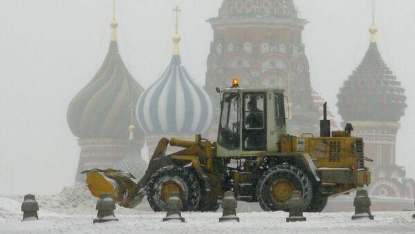 Moskva, čišćenje snega - Sputnik Srbija