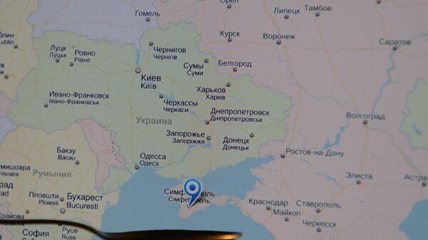 Карта Русије са Кримом - Sputnik Србија
