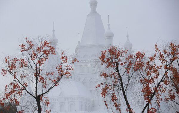 Куполе највећег замка од снега на свету. - Sputnik Србија