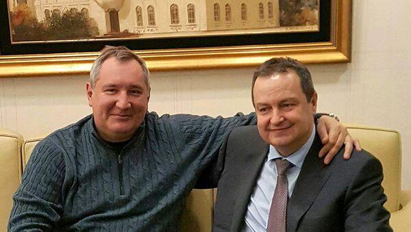 Potpredsednik Rusije Dmitri Rogozin i Ivica Dačić - Sputnik Srbija
