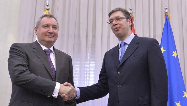 Sastanak premijera Aleksandar Vučići zamenika premijera Ruske federacije Dmitrija Rogozina - Sputnik Srbija