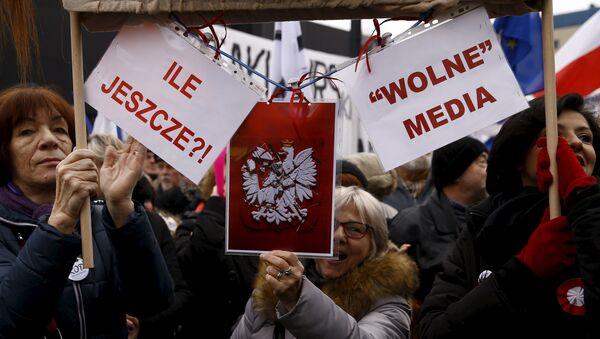 Борба за слободу медија у Варшави, Пољска - Sputnik Србија