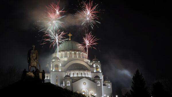 Ватромет испред Храма Светог Саве - Sputnik Србија