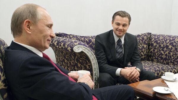 Леонардо Дикаприо Владимир Путин - Sputnik Србија