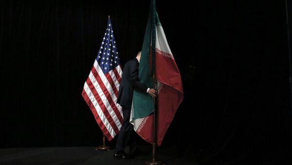 Zastava Irana i SAD - Sputnik Srbija