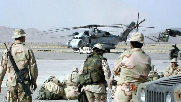 Američki vojnici u svojoj vojnoj bazi u drugom najvećem gradu Avganistana, 23. januara 2002. godine - Sputnik Srbija