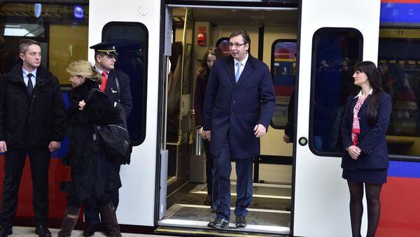 Премијер Србије Александар Вучић отворио је Железничку станицу Прокоп - Sputnik Србија
