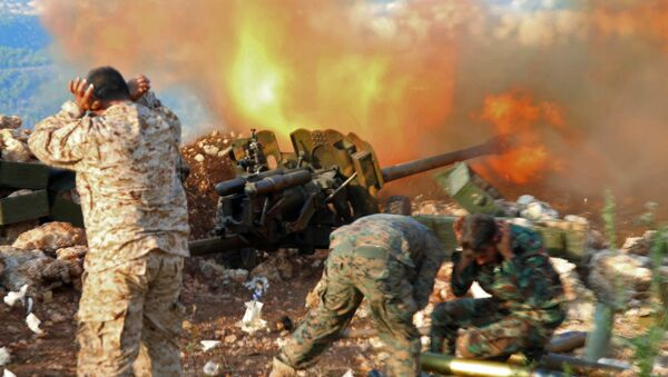 Сиријска војска спроводи офанзиву у близини места Салма у провинцији Латакија - Sputnik Србија